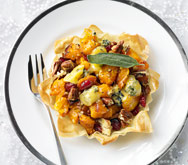 Butternut Squash & Blue Cheese Tarts