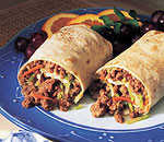 Asian Beef & Broccoli Slaw Wraps