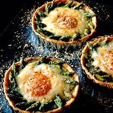 Asparagus, Cheese and Egg Tartlets