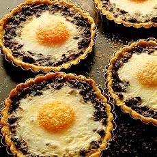Baked Eggs in Wild Mushroom Tartlets