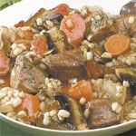 Beef and Barley with Portobello Mushrooms