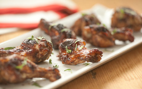 Five-Spice Cranberry Glazed Chicken Wings