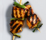 Harissa chicken skewers
