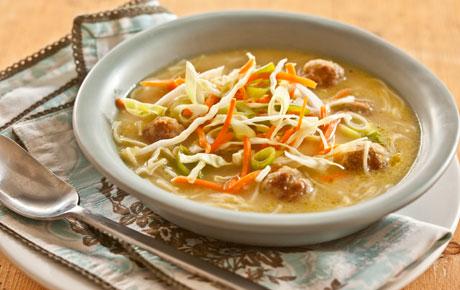 Mini-Meatball Noodle Soup