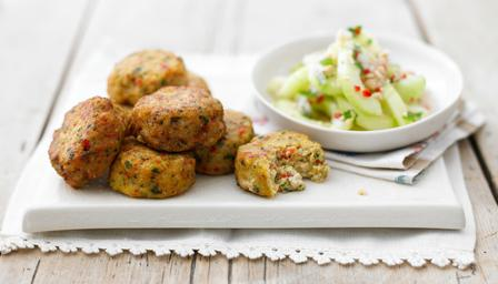 Thai Fishcakes served with Thai Cucumber Salad