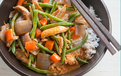 Thai-Style Red Curry with Turkey and Green Beans