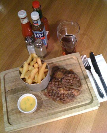 restaurant review five tuns steak
