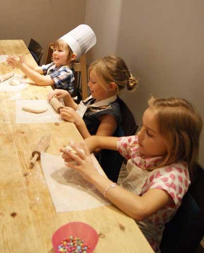 Kids Cooking at Cookbook Cafe