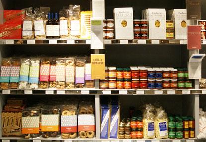 Carluccio's shelves