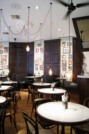 asian restaurant review Dishoom tables
