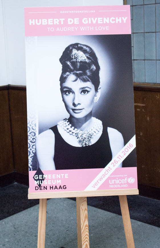 Givenchy and Hepburn poster