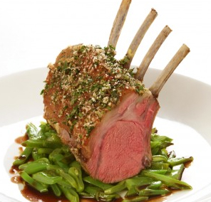 Rack of Lamb Provençal with Mustard, Thyme and Rosemary Crust