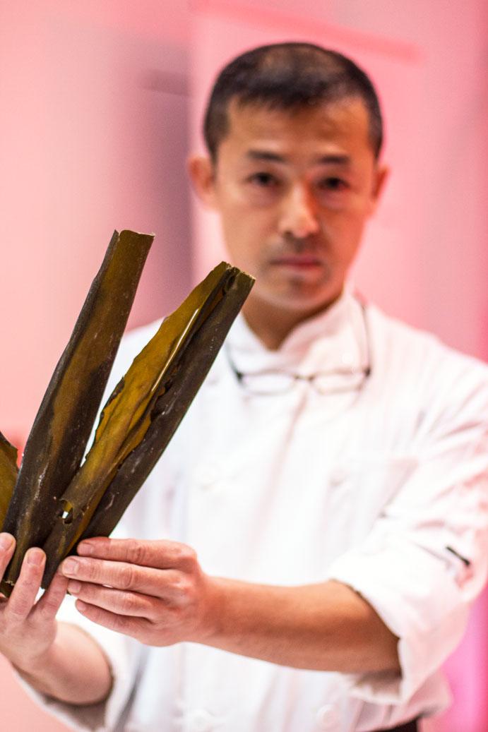 Turning Japanese kelp