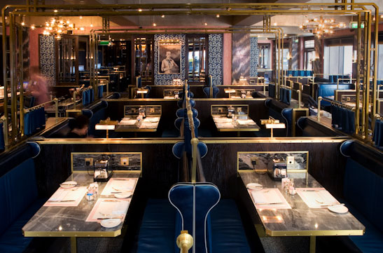 restaurant review bob bob ricard tables