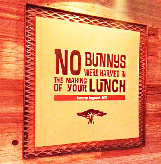 Bunny Chow sign