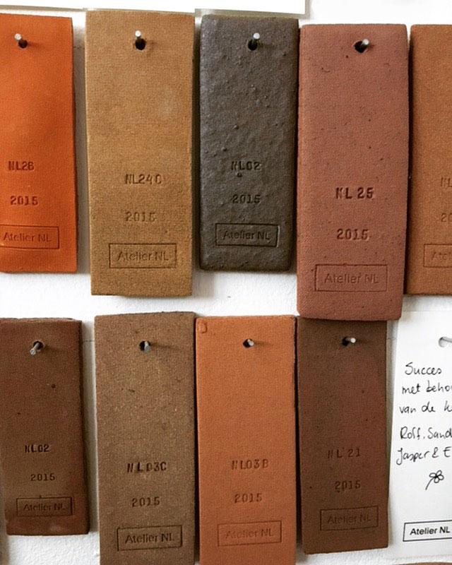 Atelier NL eindhoven clay tiles