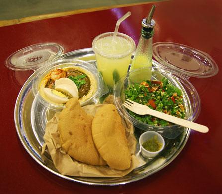 Hummus Bros hummus tray