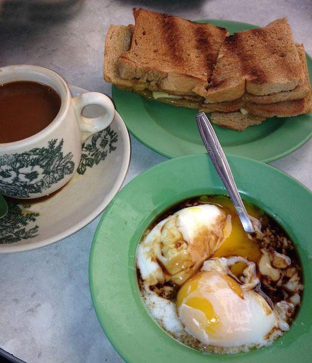 how to eat kaya toast