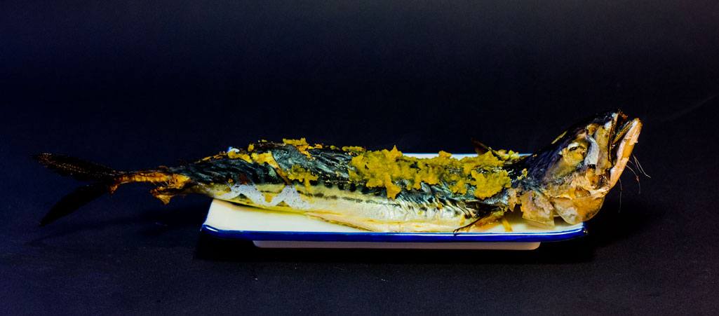 Grilled Mackerel with Spicy Yuzu Citrus and Pepper Paste