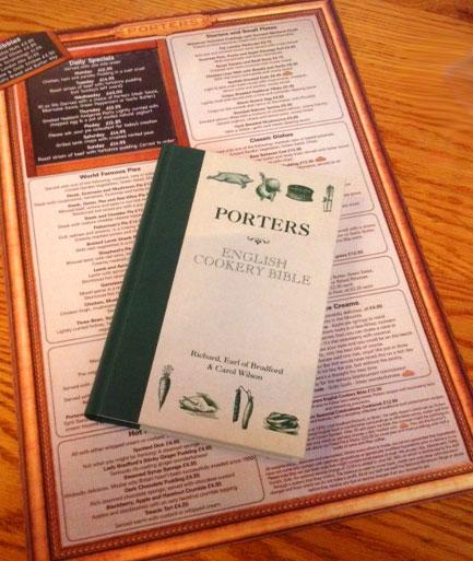 Porters menu