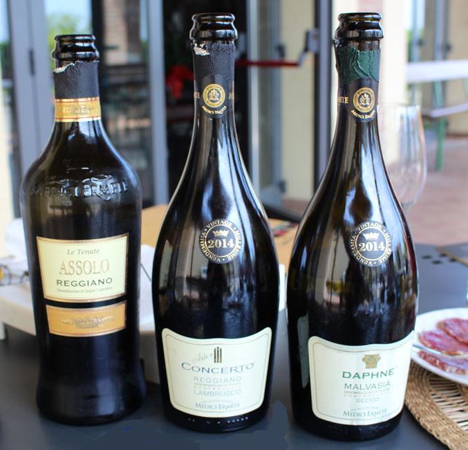 Lambrusco three bottles