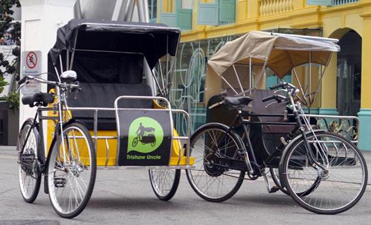 Singapore trishaw Uncle