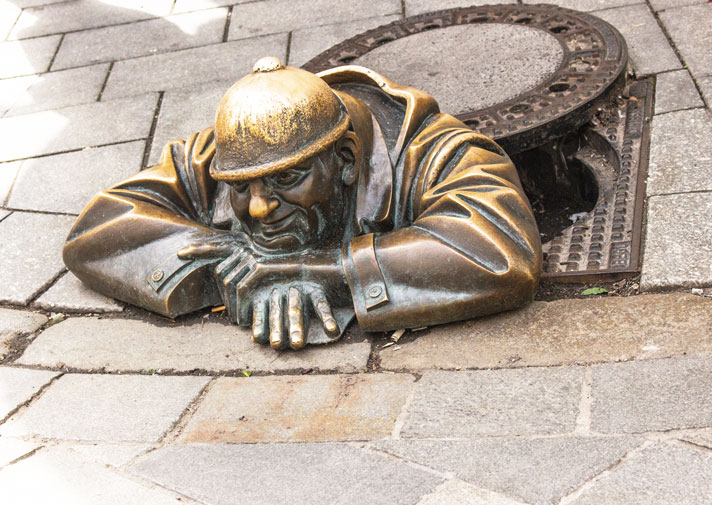 Bratislava – sculpture and urban art – travel review