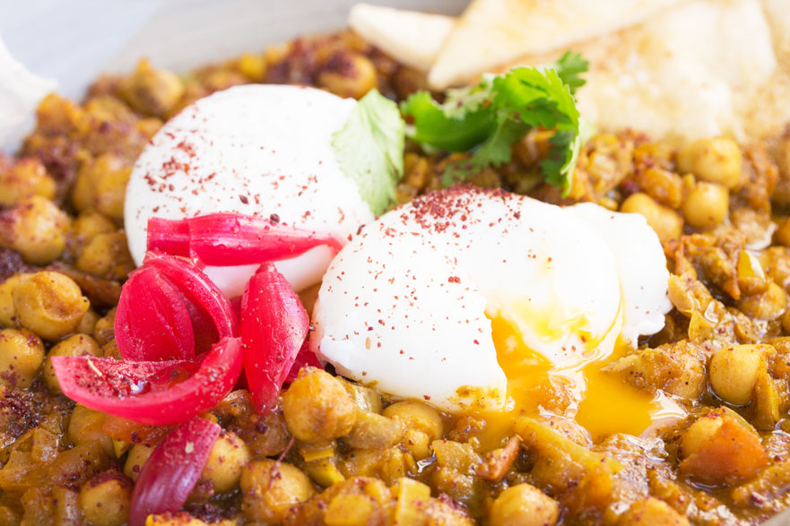 duck and waffle chickpeas