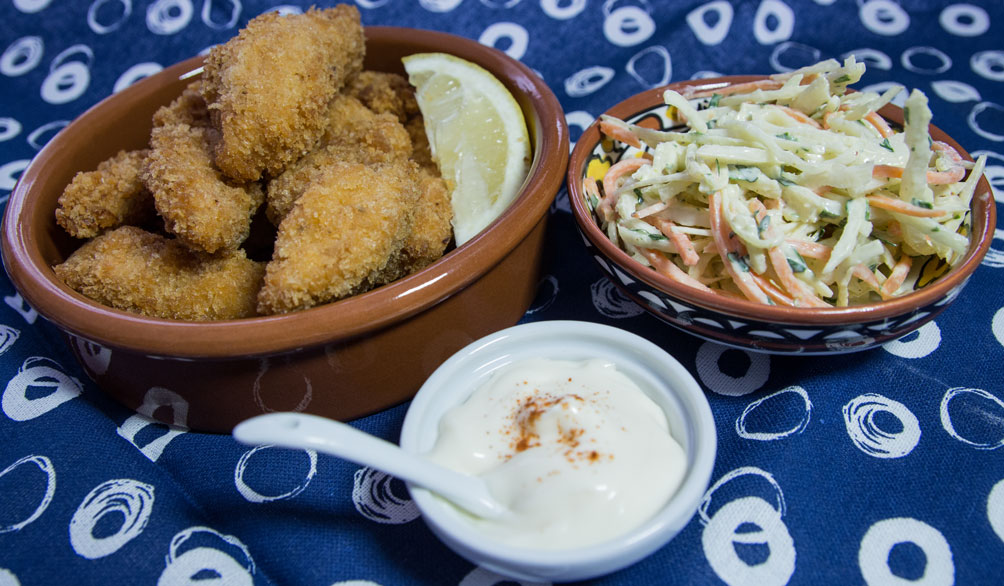 1070 Chicken Goujons and Coleslaw – product review