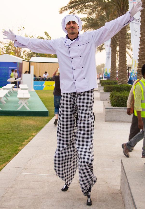 Qatar International Food Festival 2018 QIFF tall chef