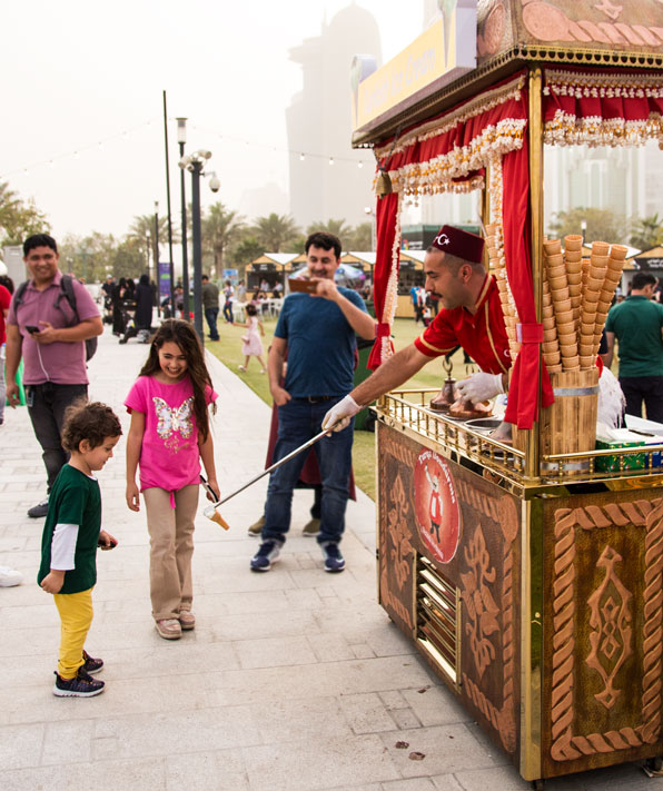 Qatar International Food Festival 2018 QIFF Turkish ice cream