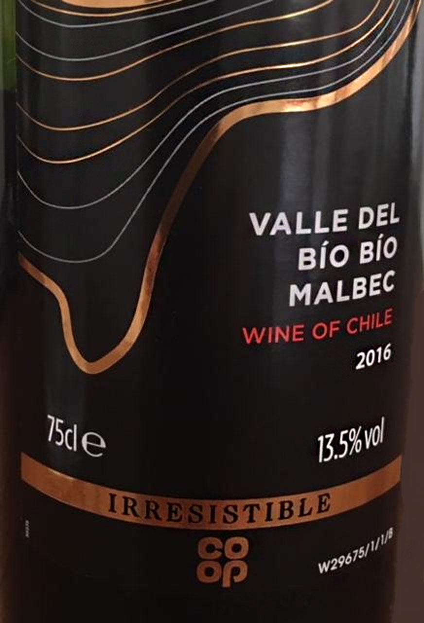 Co-op 2016 Valle del Bio Bio Malbec from Chile – review