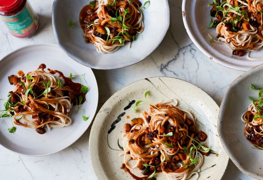 Ken Hom's Vegan friendly Sichuan Dan Dan Noodles