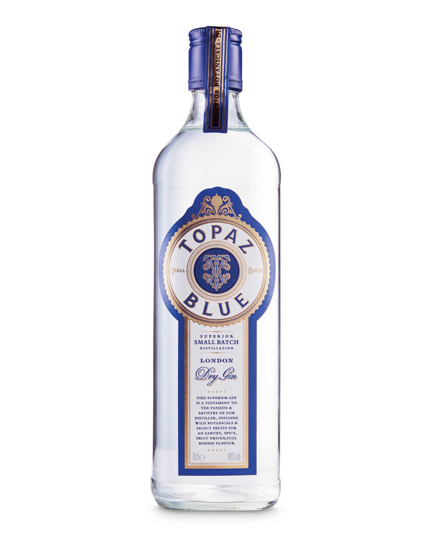 Topaz Blue Premium Gin by Aldi