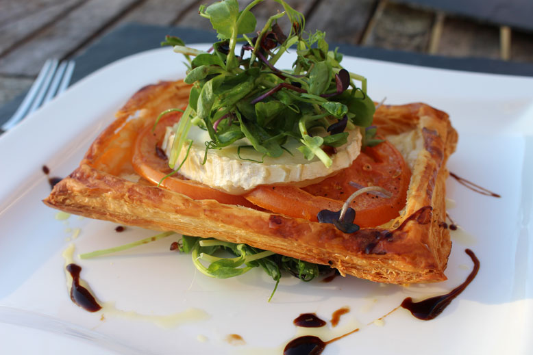 Goat's Cheese and Tomato Tart with Burpee Europe