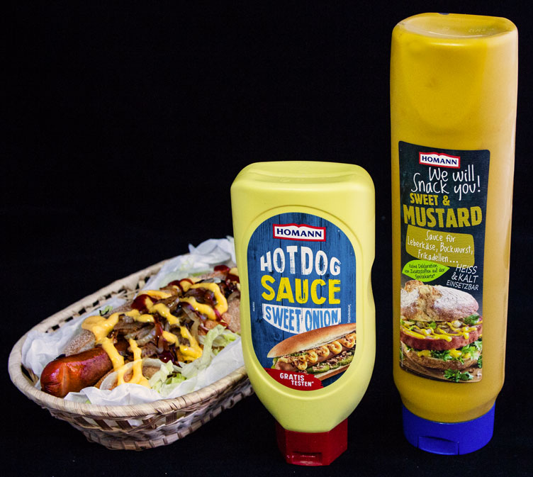 sausage man dogs and mustard